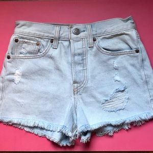 Levi's 501 High Rise Denim Jean Shorts Size 24